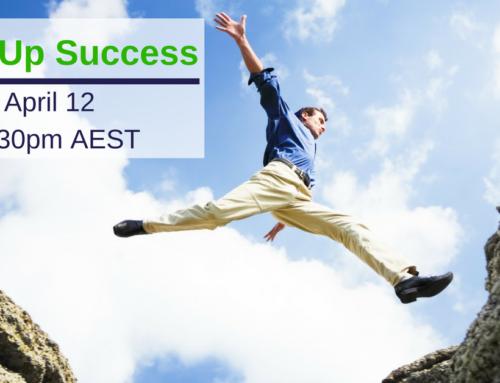 Start Up Success Webinar April 12th